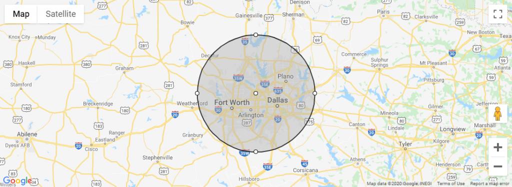 RoofScape Map Radius