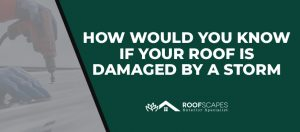 Signs of wind damage to roof