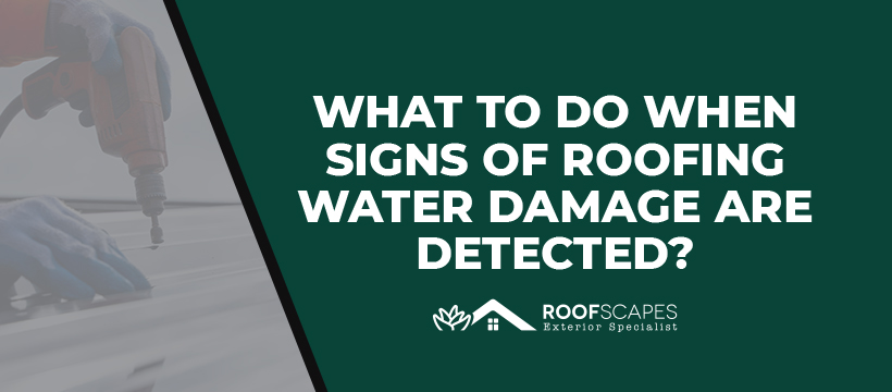 What to Do When Signs of Roofing Water Damage Are Detected