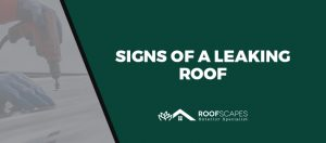 Signs of a Leaking Roof